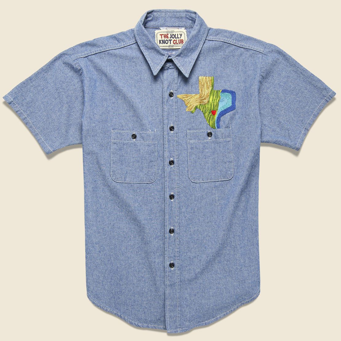 Embroidered Chambray Shirt - The Stars at Night