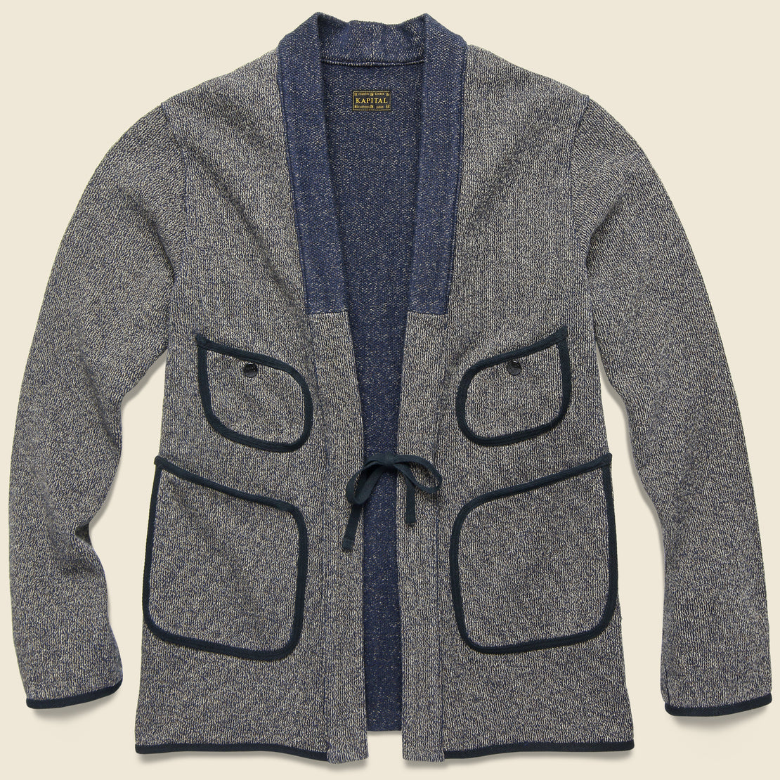Kapital Beach Knit Kakashi Cardigan - Charcoal
