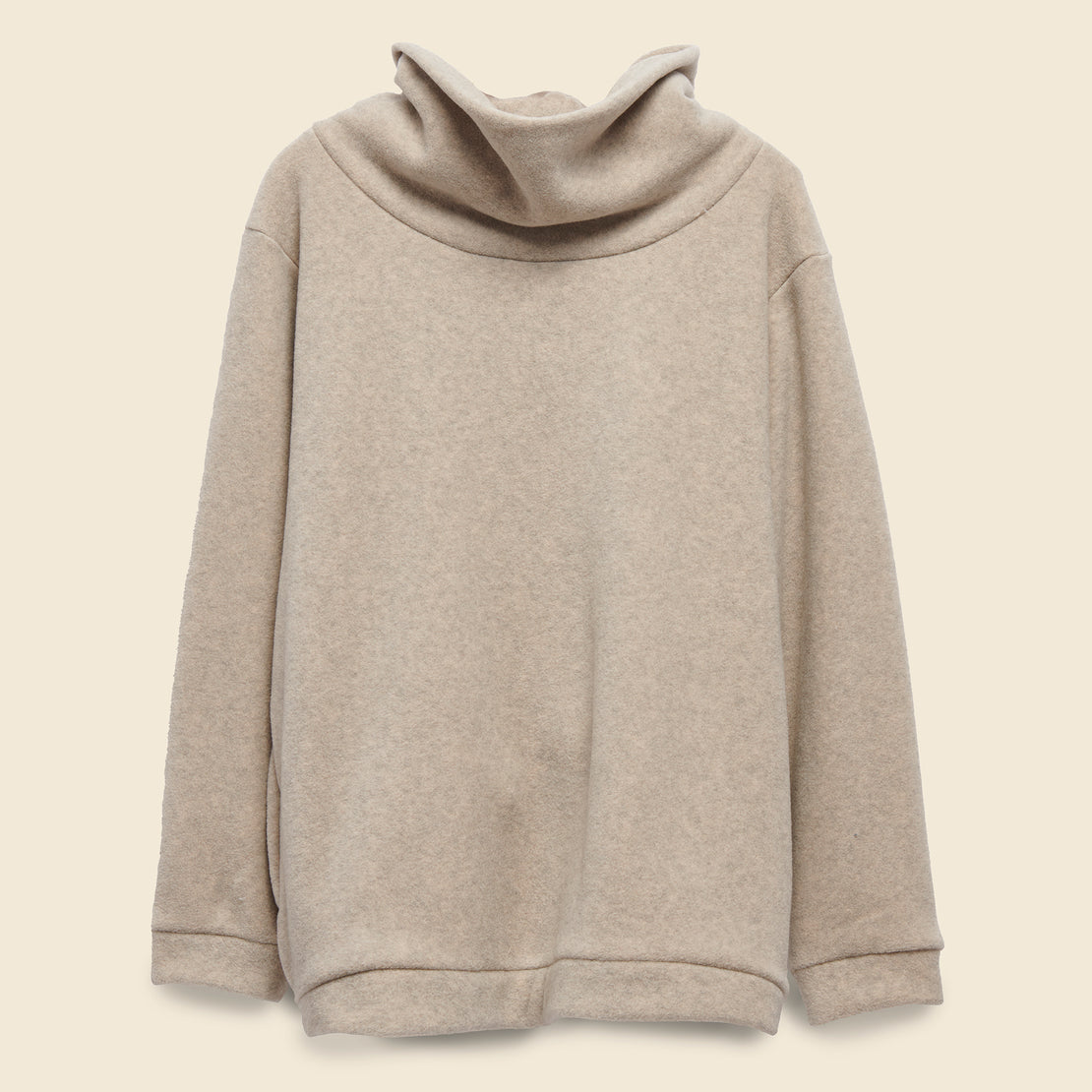Kapital Reverse Fleece Big High Neck Sweatshirt - Ecru