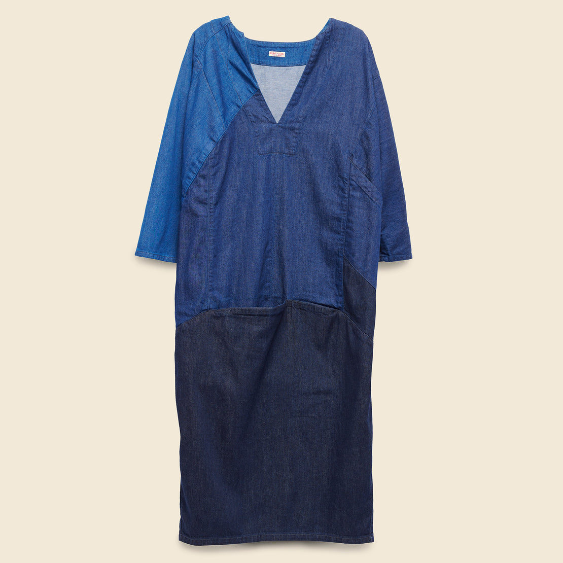 Kapital 3Tones Denim Gimmick Art Dress - Indigo