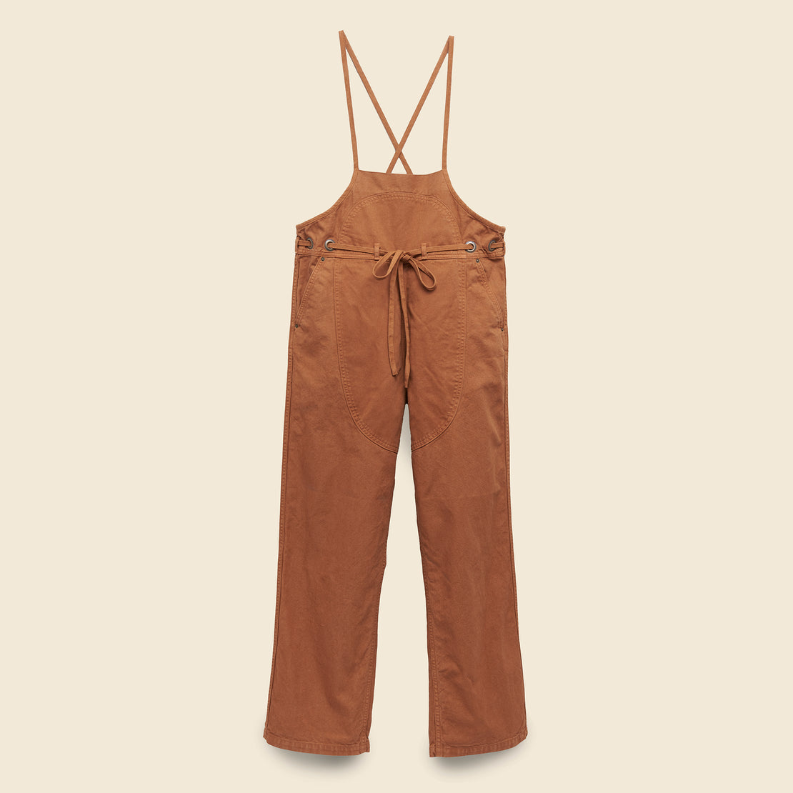 Kapital Lightweight Canvas Welder Overall - Leather Brown