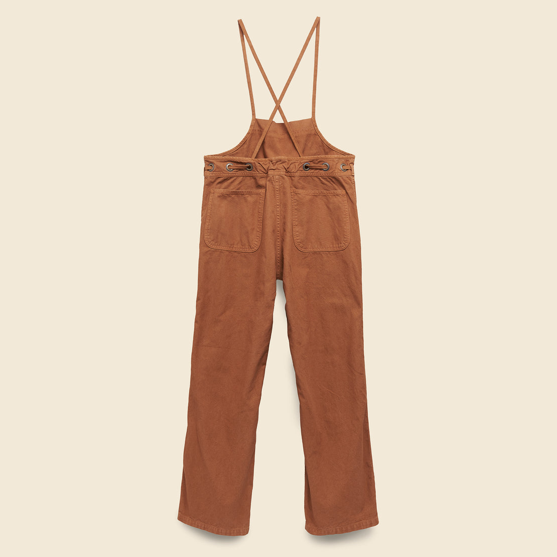 Lightweight Canvas Welder Overall - Leather Brown