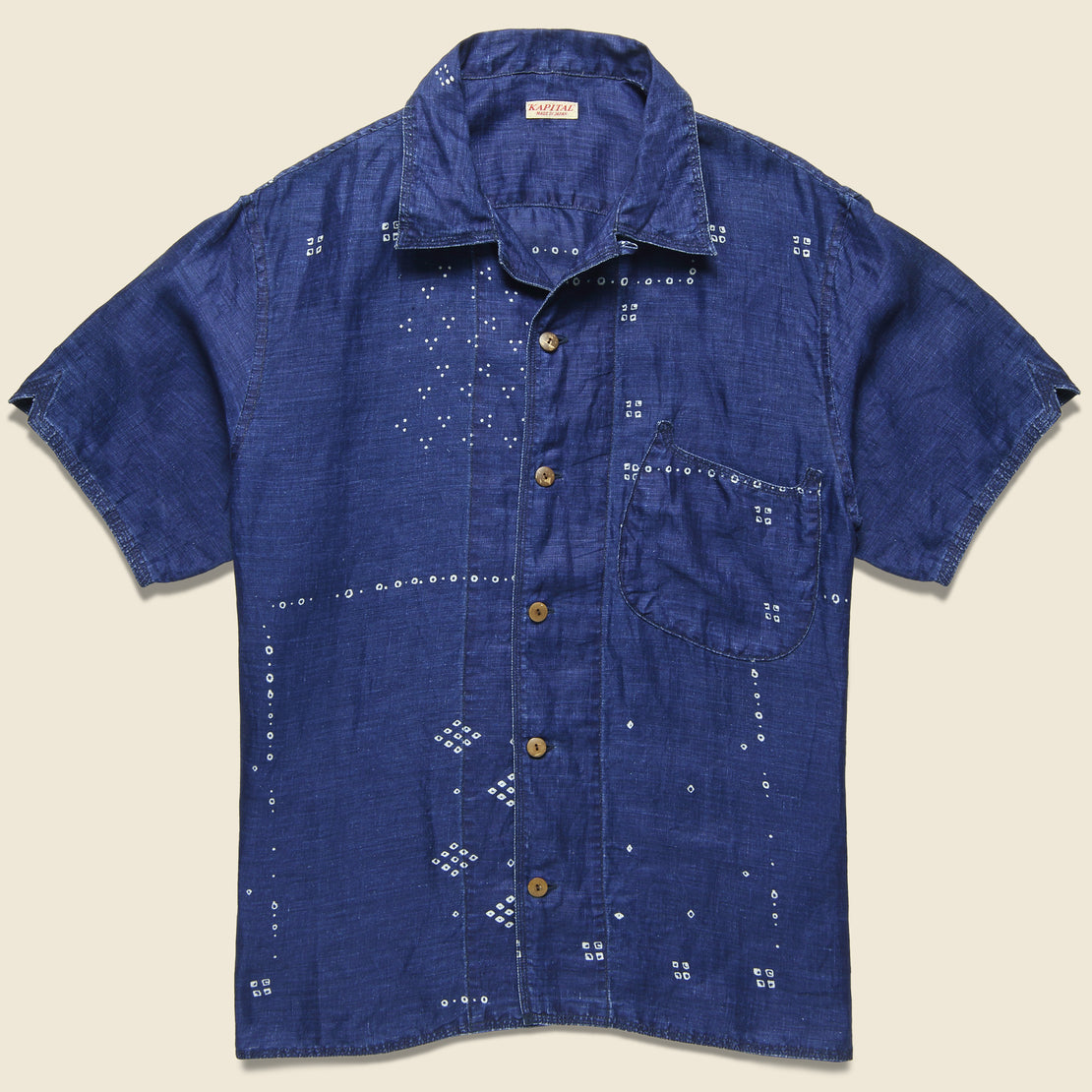 Kapital French Linen Aloha Shirt - Indigo
