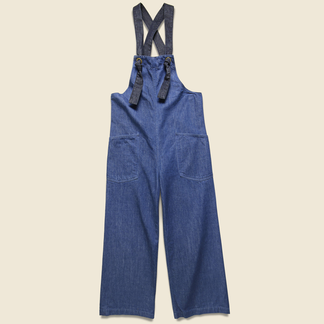 Kapital Lace-up Lobster Man Salopette Overall - 11.5oz Indigo