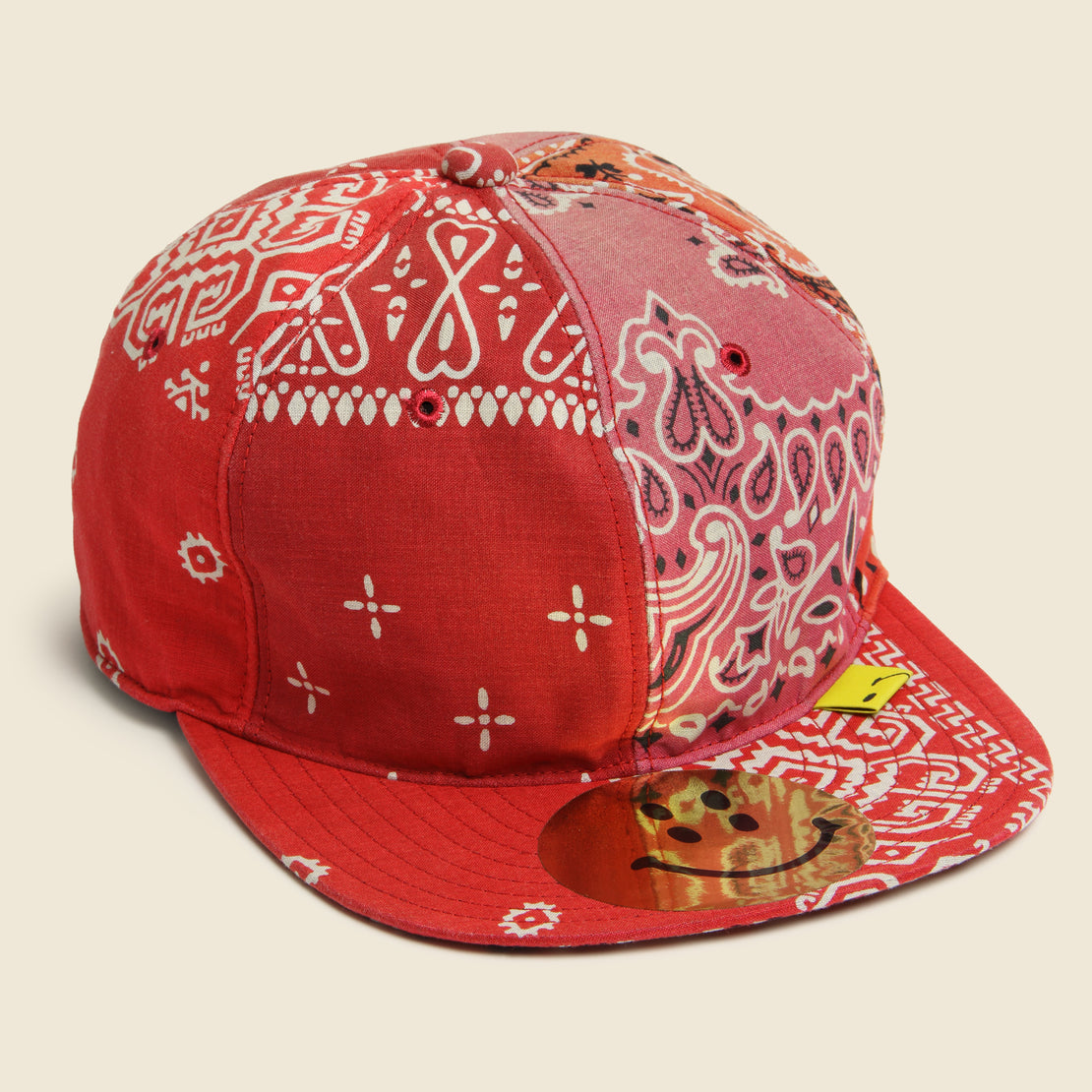 Kapital Bandana Patchwork Baseball Cap - Red
