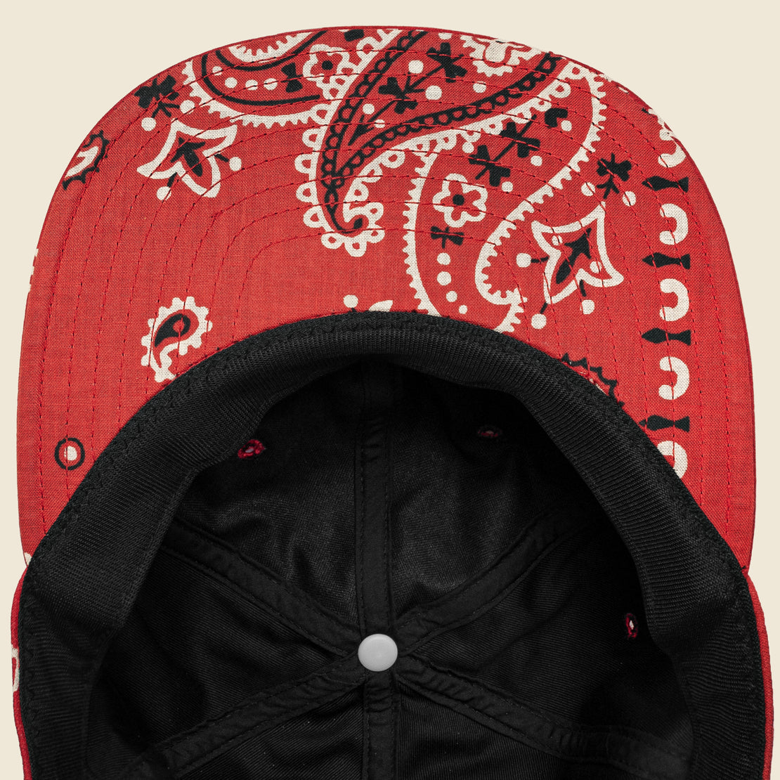 Bandana Patchwork Baseball Cap - Red