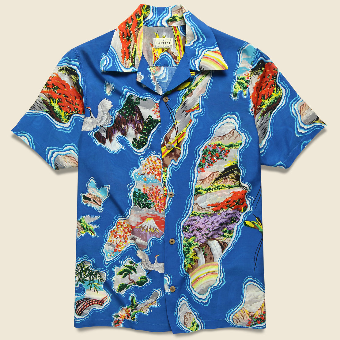 Kapital Pacific-Atlantic Aloha Shirt - Blue