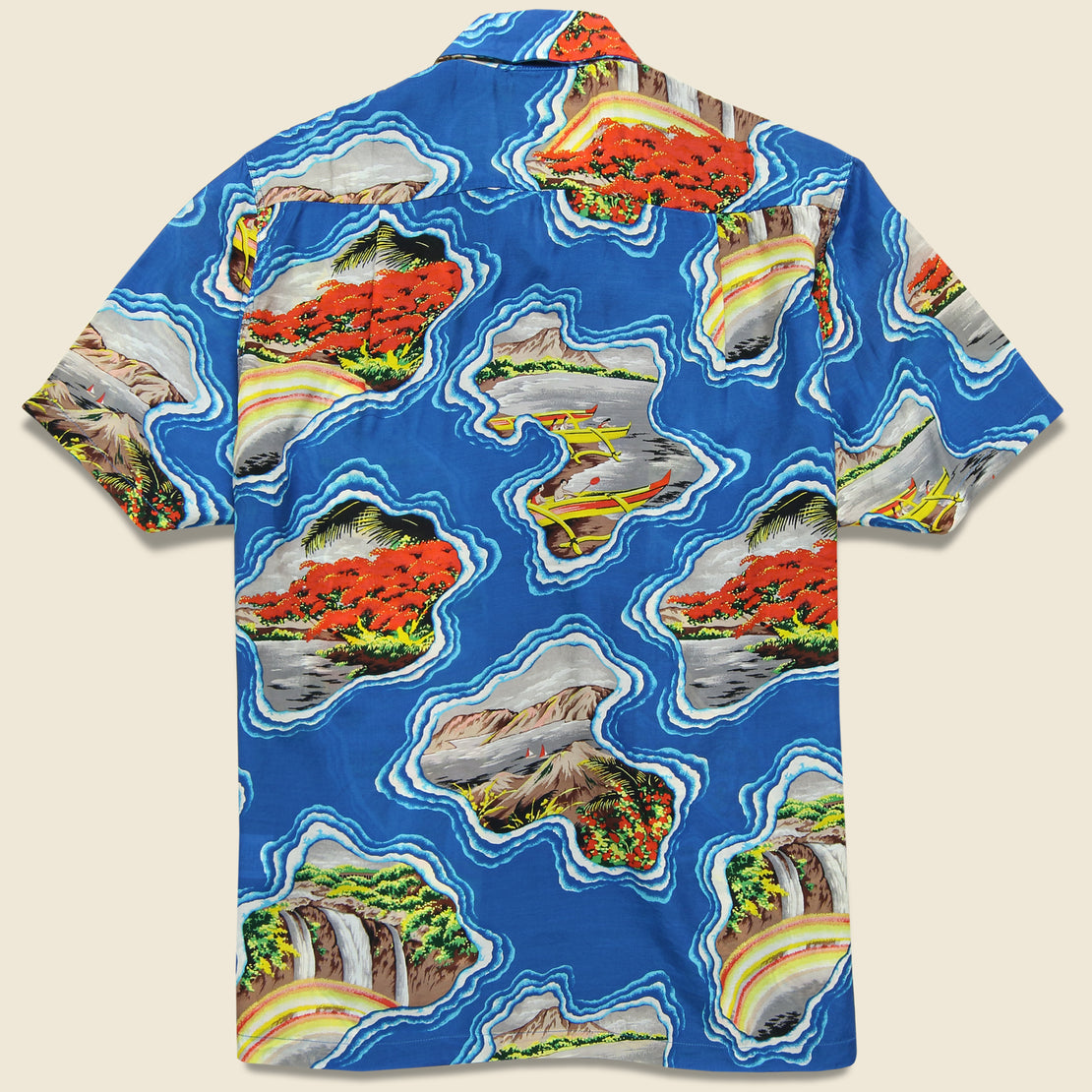 Pacific-Atlantic Aloha Shirt - Blue