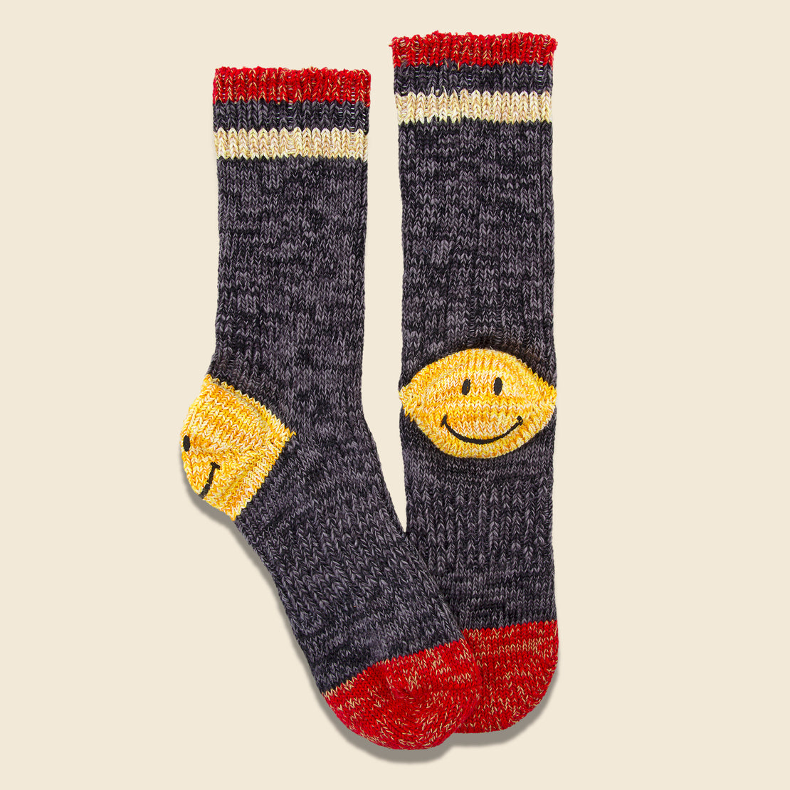 64 Yarns Ivy Smile Heel Hold Socks - Grey