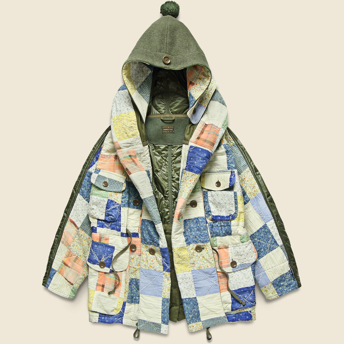 American Quilt Ring Coat - Ecru