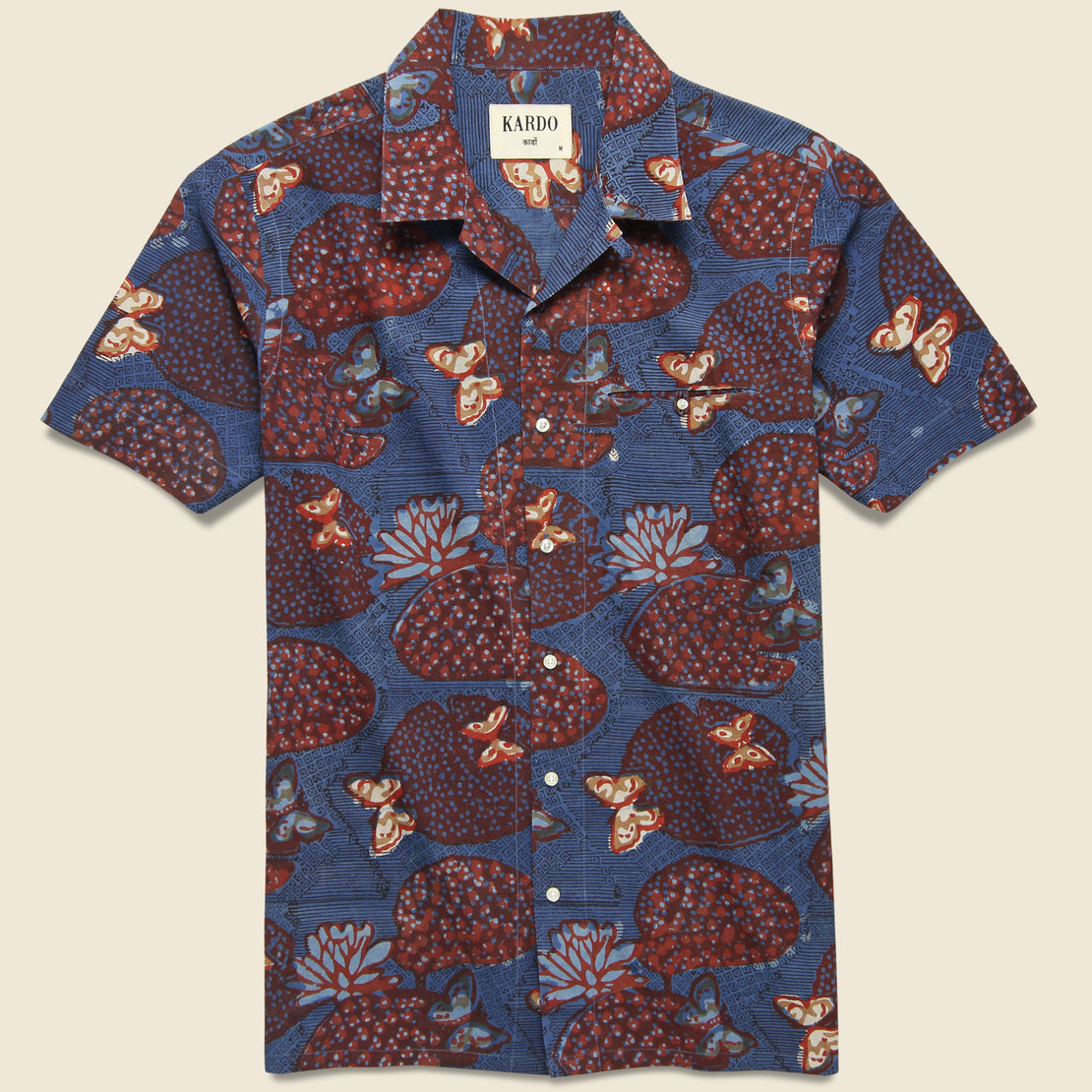 Kardo Kendrick Shirt - Navy/Red Floral