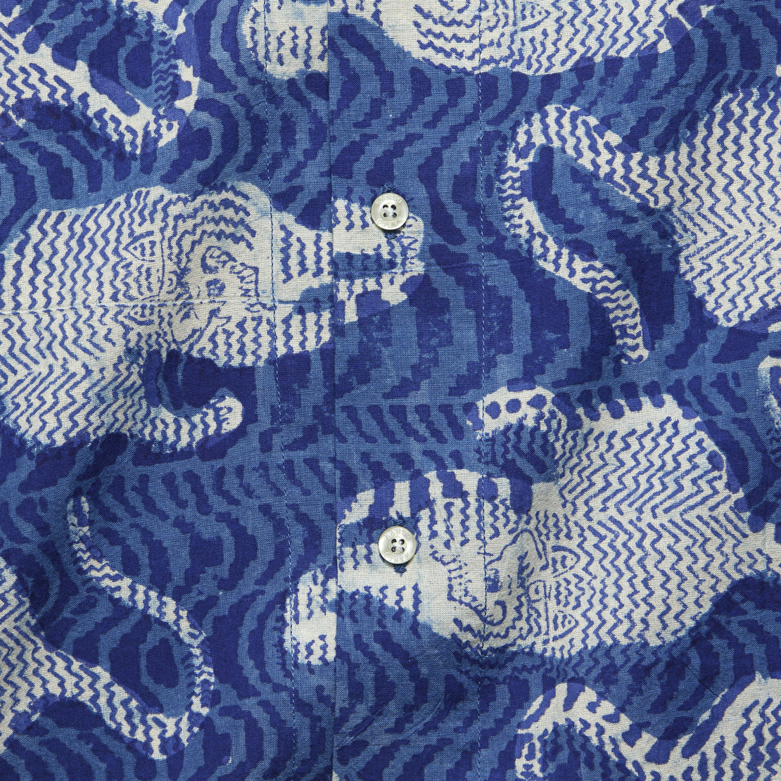 Lamar Shirt - Indigo Blockprint