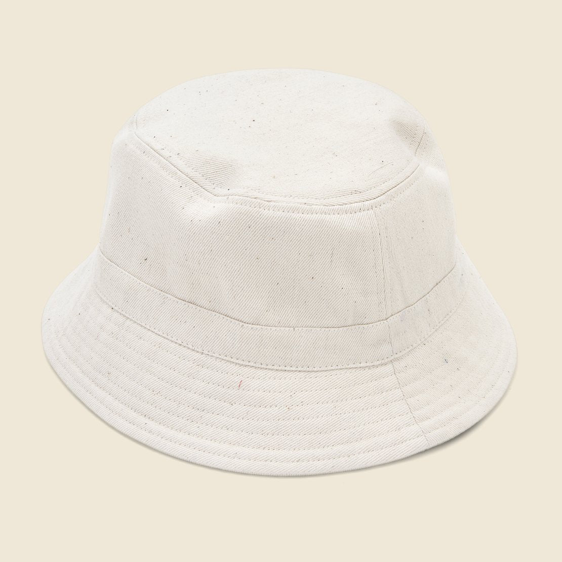 Denim Bucket Hat - Natural
