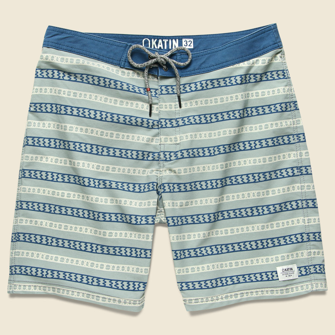 Katin Route Swim Trunk - Grey Green