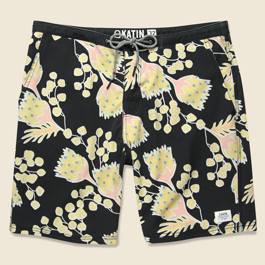 Katin Outline Boardshort - Black