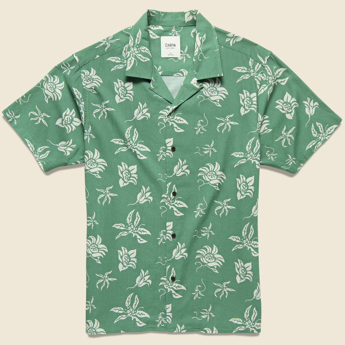 Katin Haiku Aloha Camp Shirt - Herb