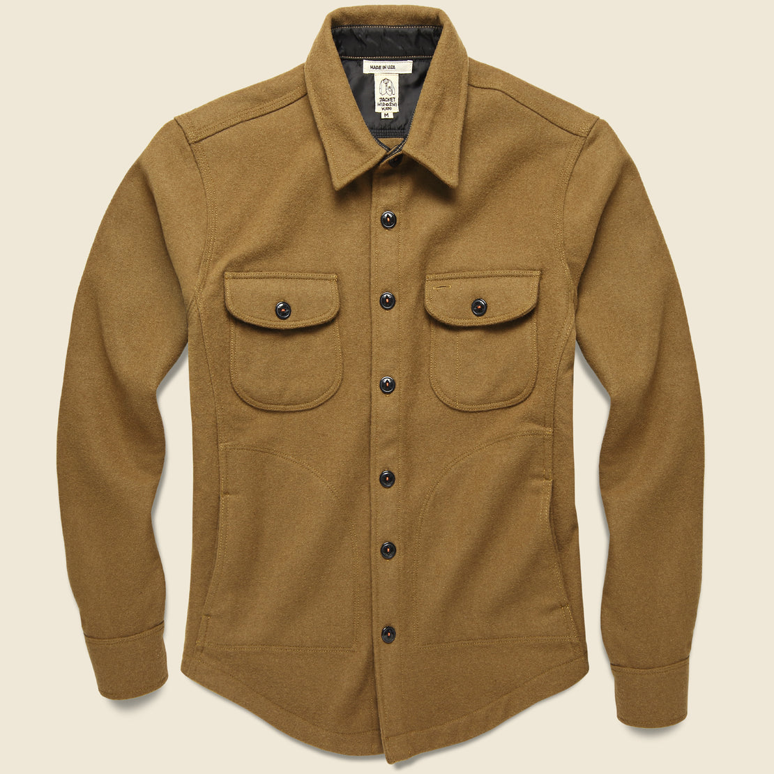 KATO Anvil Shirt Jacket - Camel Melton