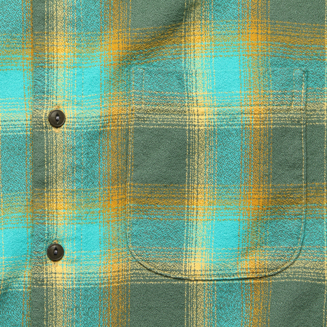 Ripper Flannel - Green Vintage Plaid