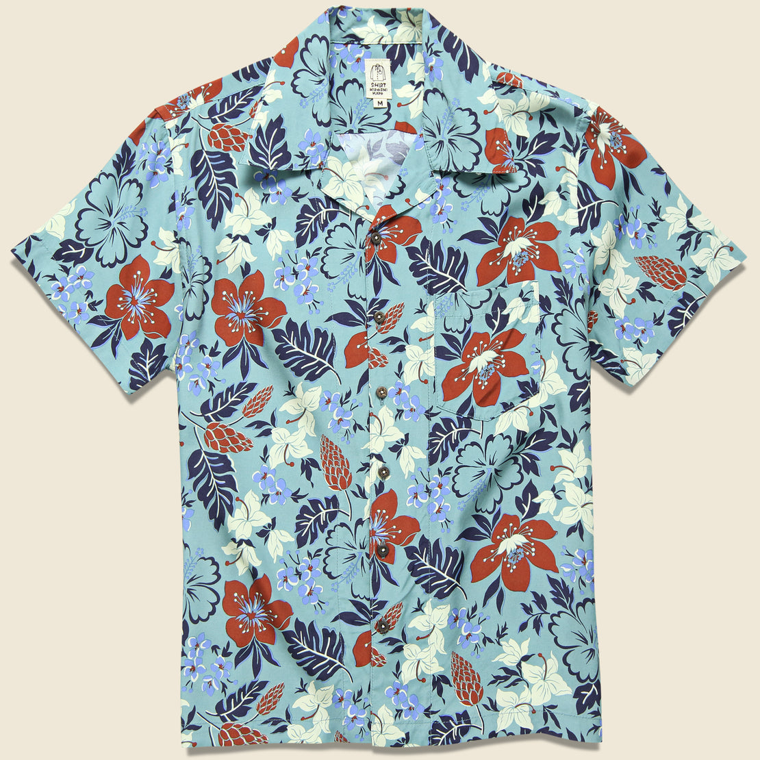 2c161ce6 KATO Wrench Aloha Shirt - Green/Blue ...
