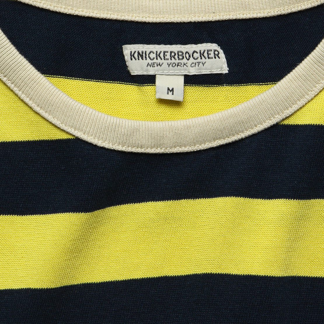 Mojave Striped Tee - Yellow/Blue