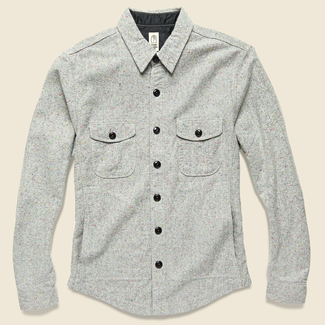 KATO Speckle Overshirt - Grey