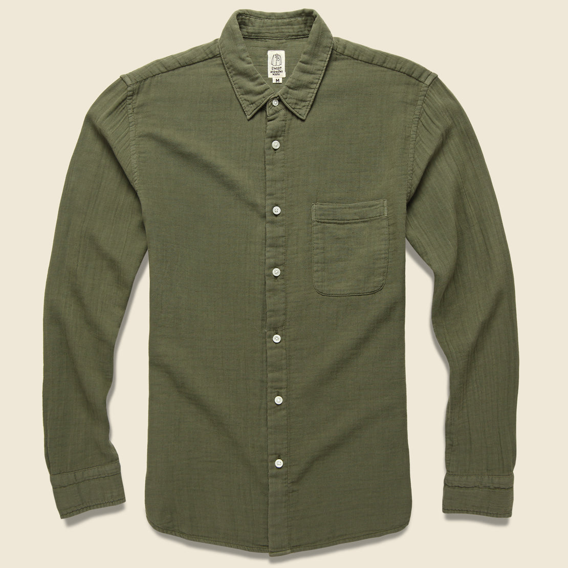 KATO Vintage Double Gauze Shirt - Military Green