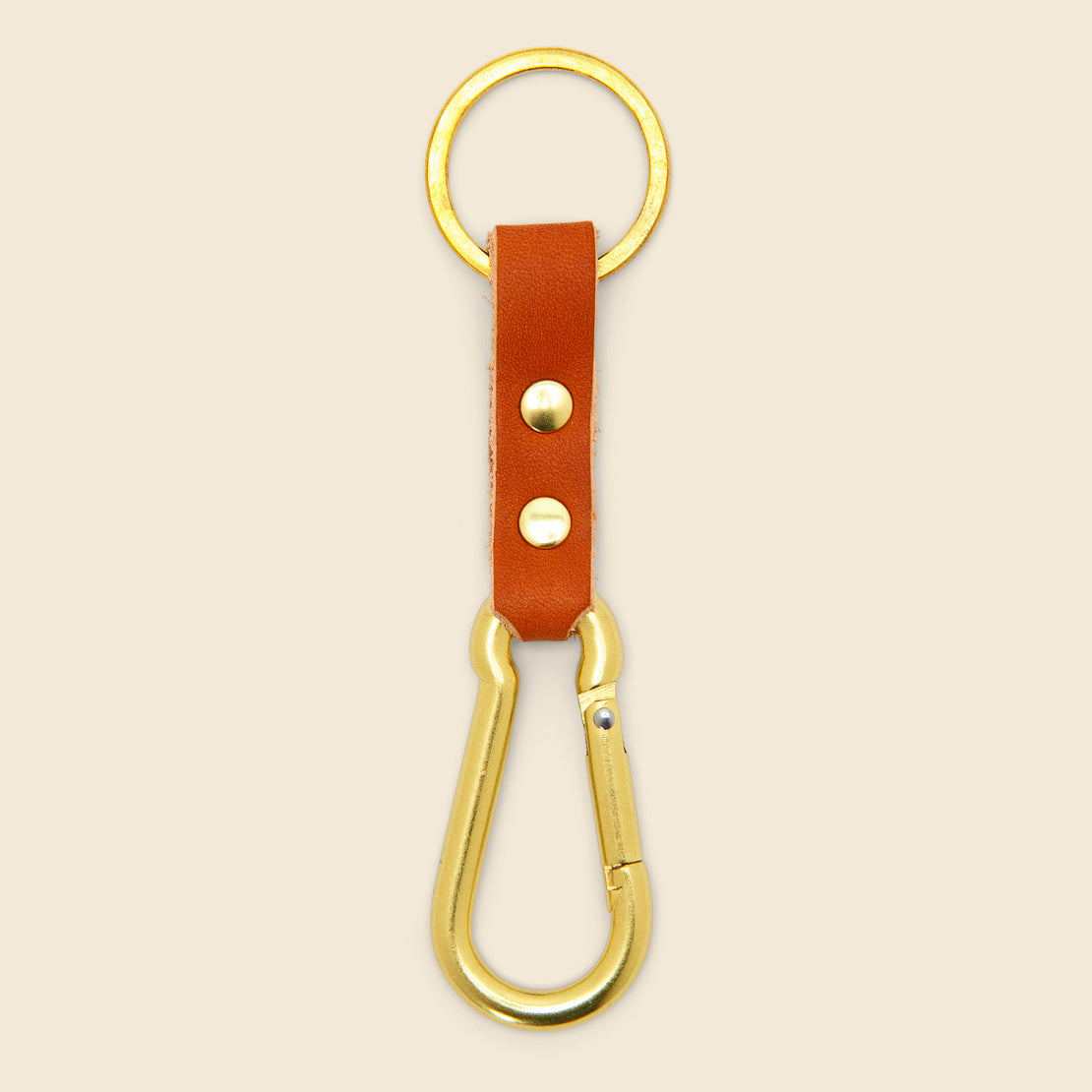 Son of a Sailor Carabiner Key Chain - Brown
