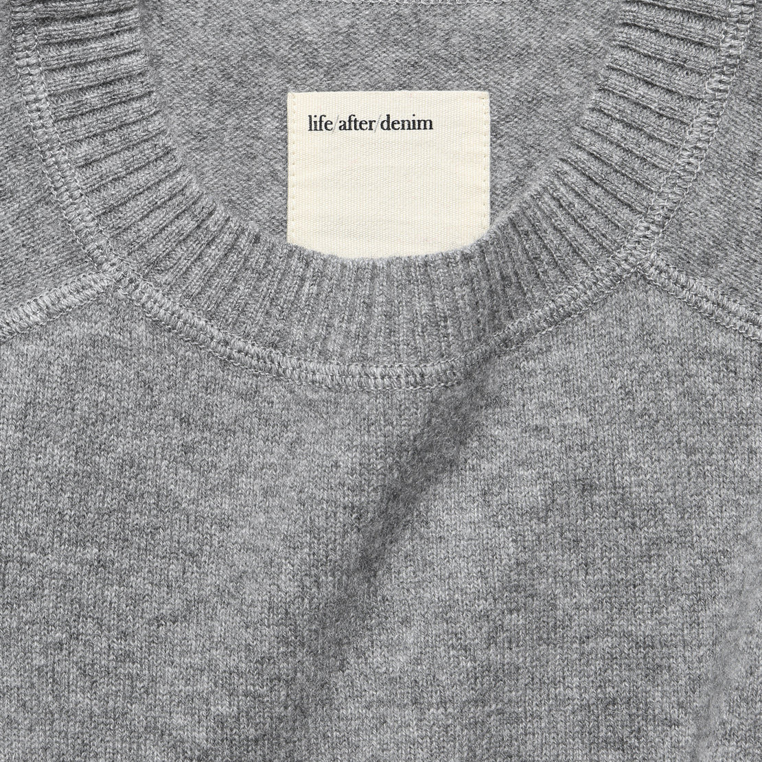 Columbia Cashmere Sweater - Heather Grey