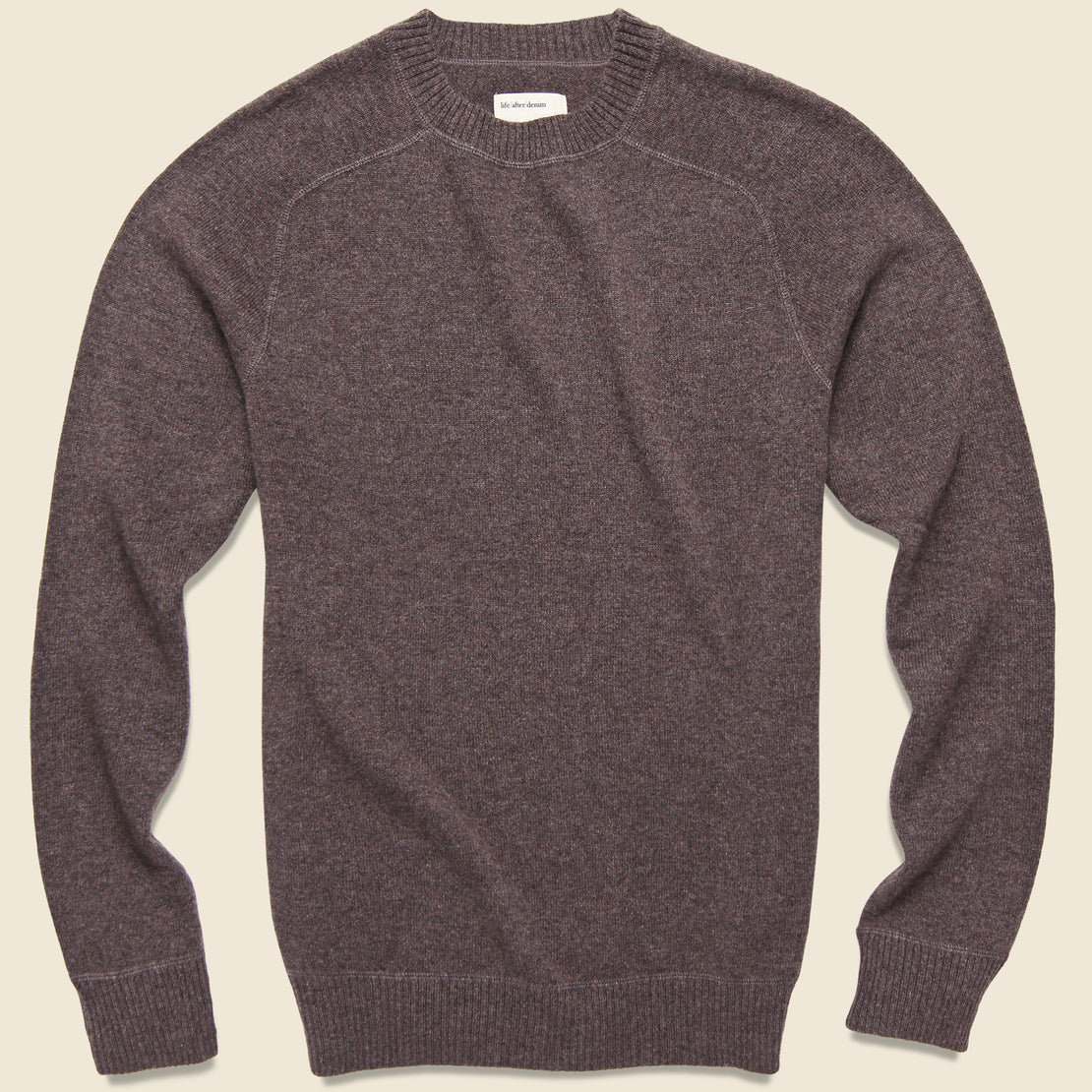 Life After Denim Columbia Cashmere Sweater - Heather Caribou