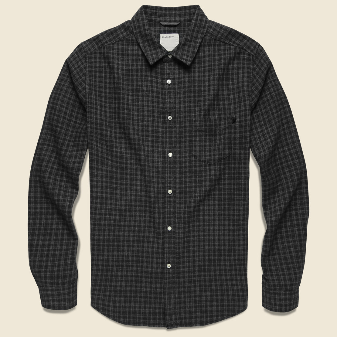 Life After Denim Griffin Flannel Shirt - Black