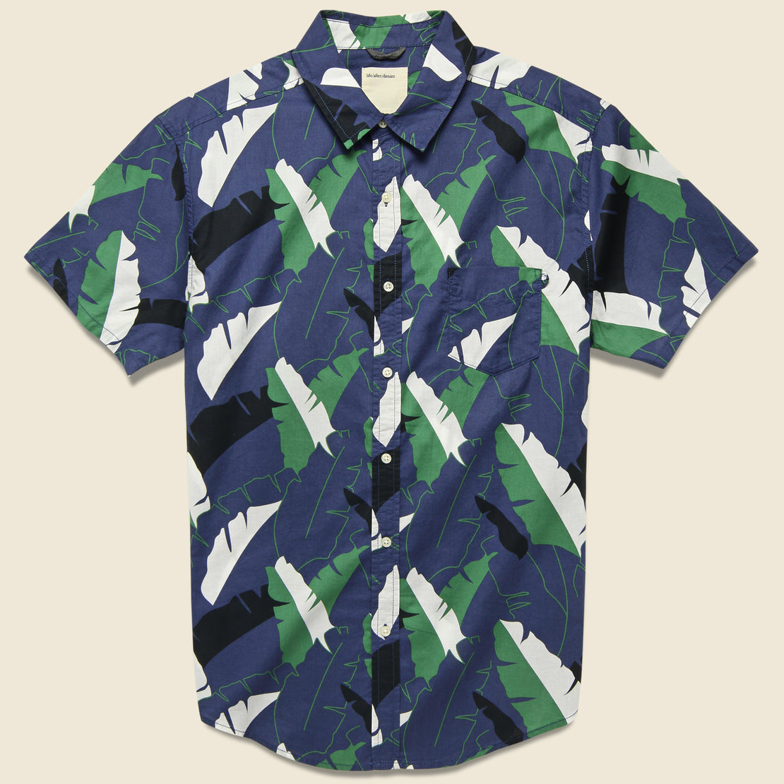 Life After Denim Twin Palm Shirt - Ocean Blue