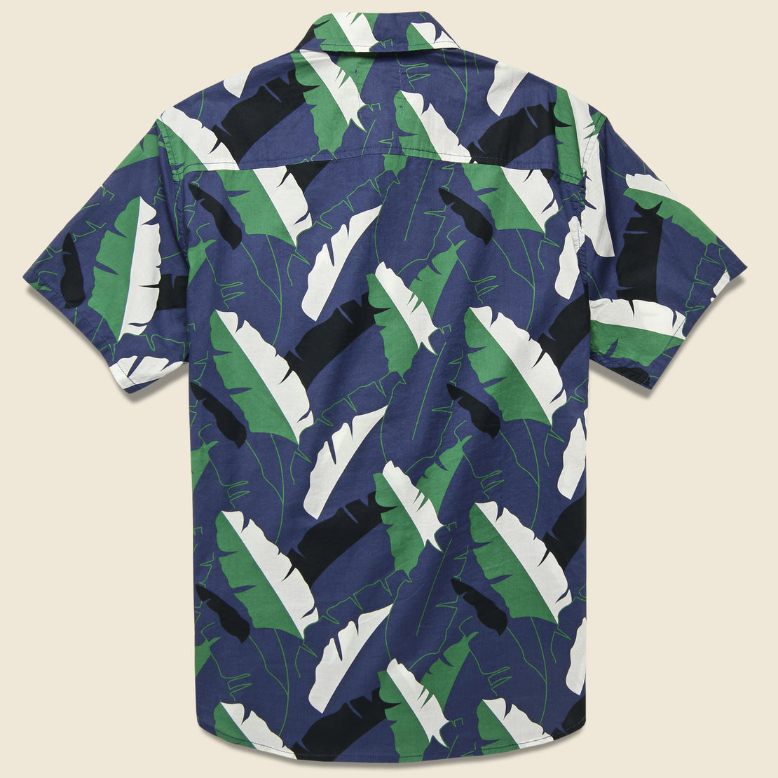 Twin Palm Shirt - Ocean Blue