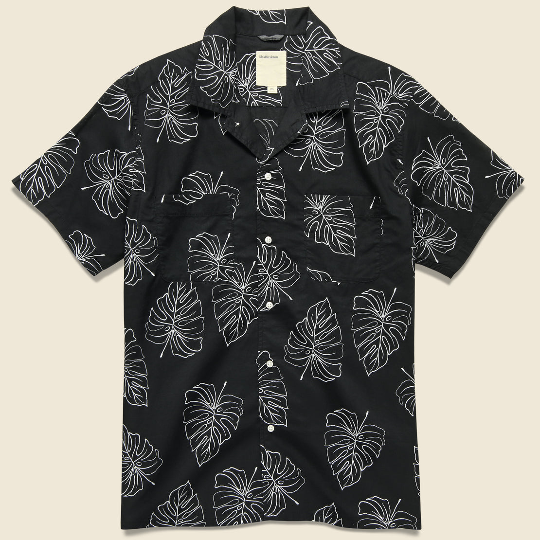 Life After Denim Monstera Leaf Shirt - Black