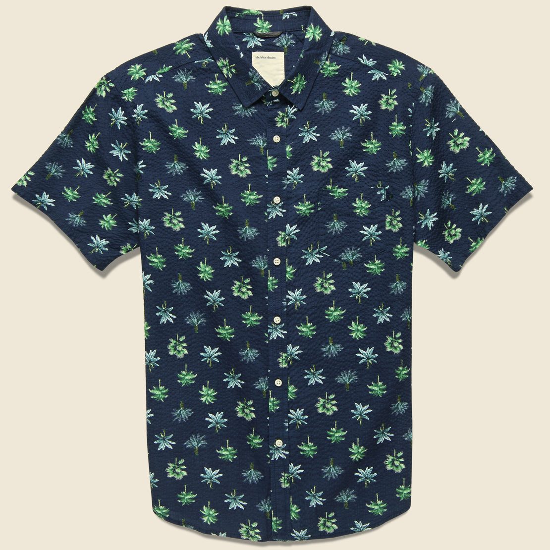 Life After Denim Rainforest Seersucker Shirt - Ocean Blue