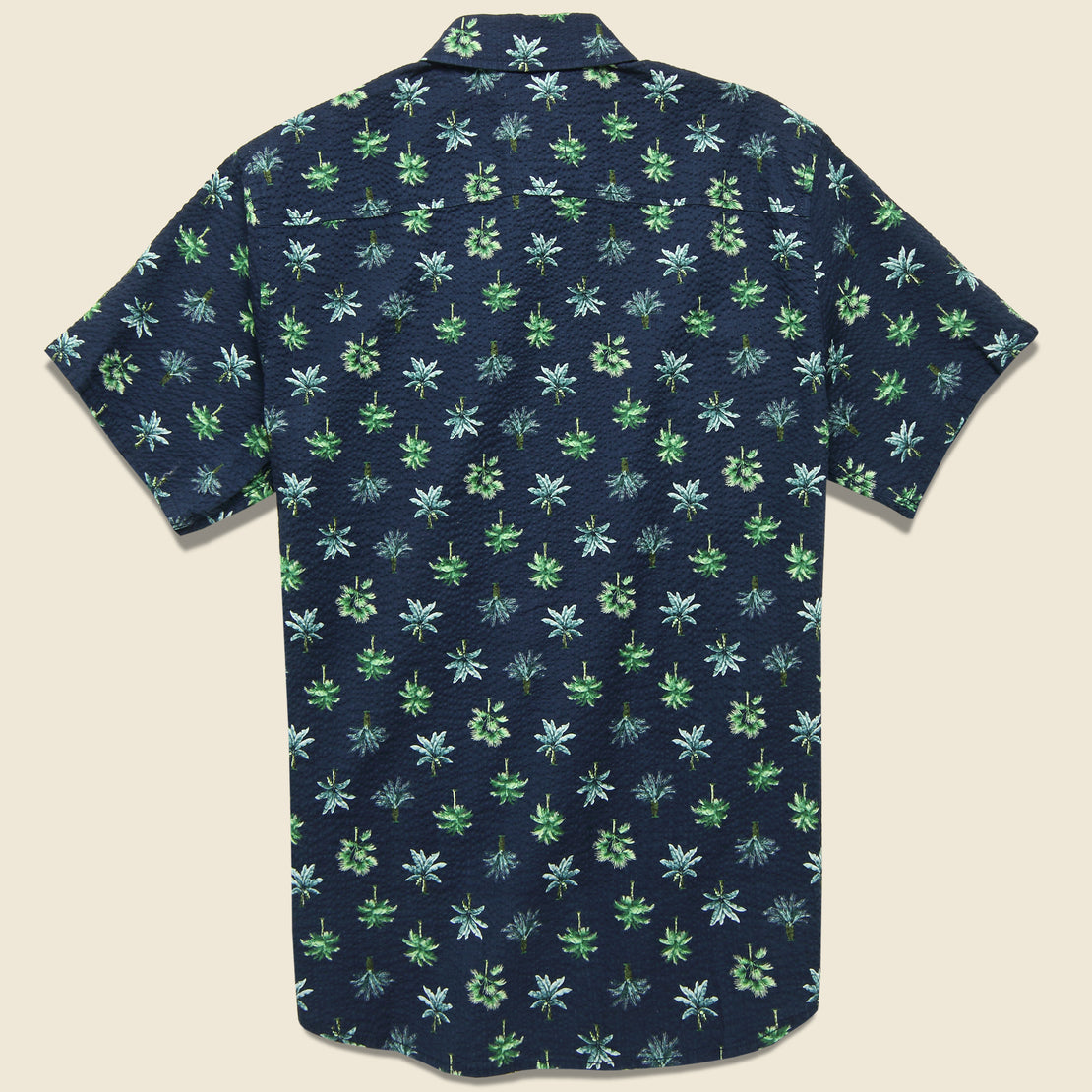 Rainforest Seersucker Shirt - Ocean Blue