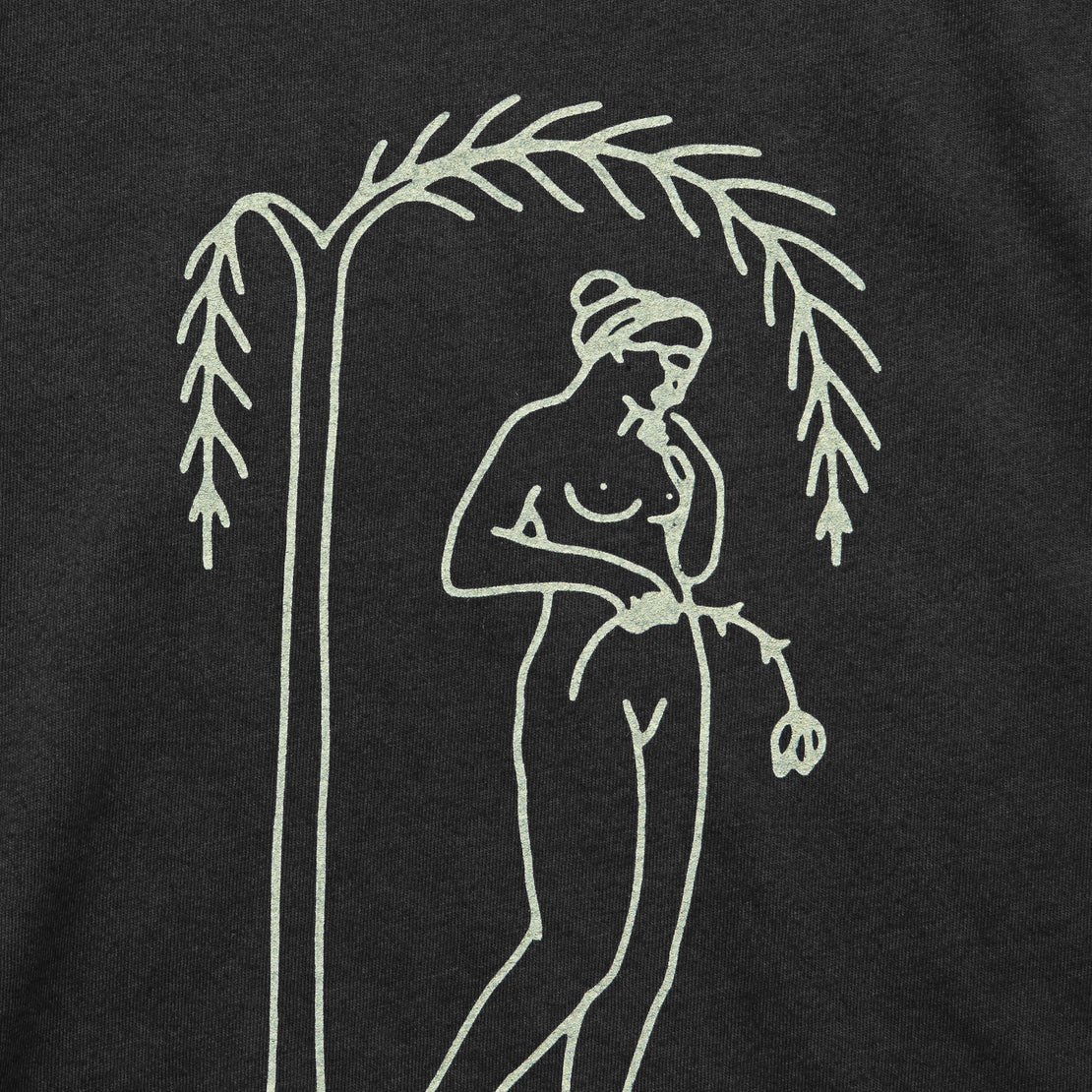 Woman and Willow Tee - Black