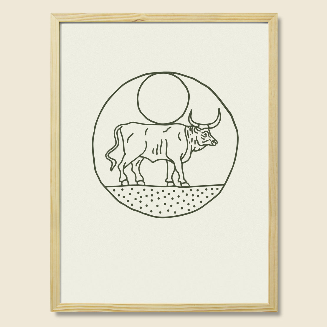 House of LAND Framed Print - Moon Bull