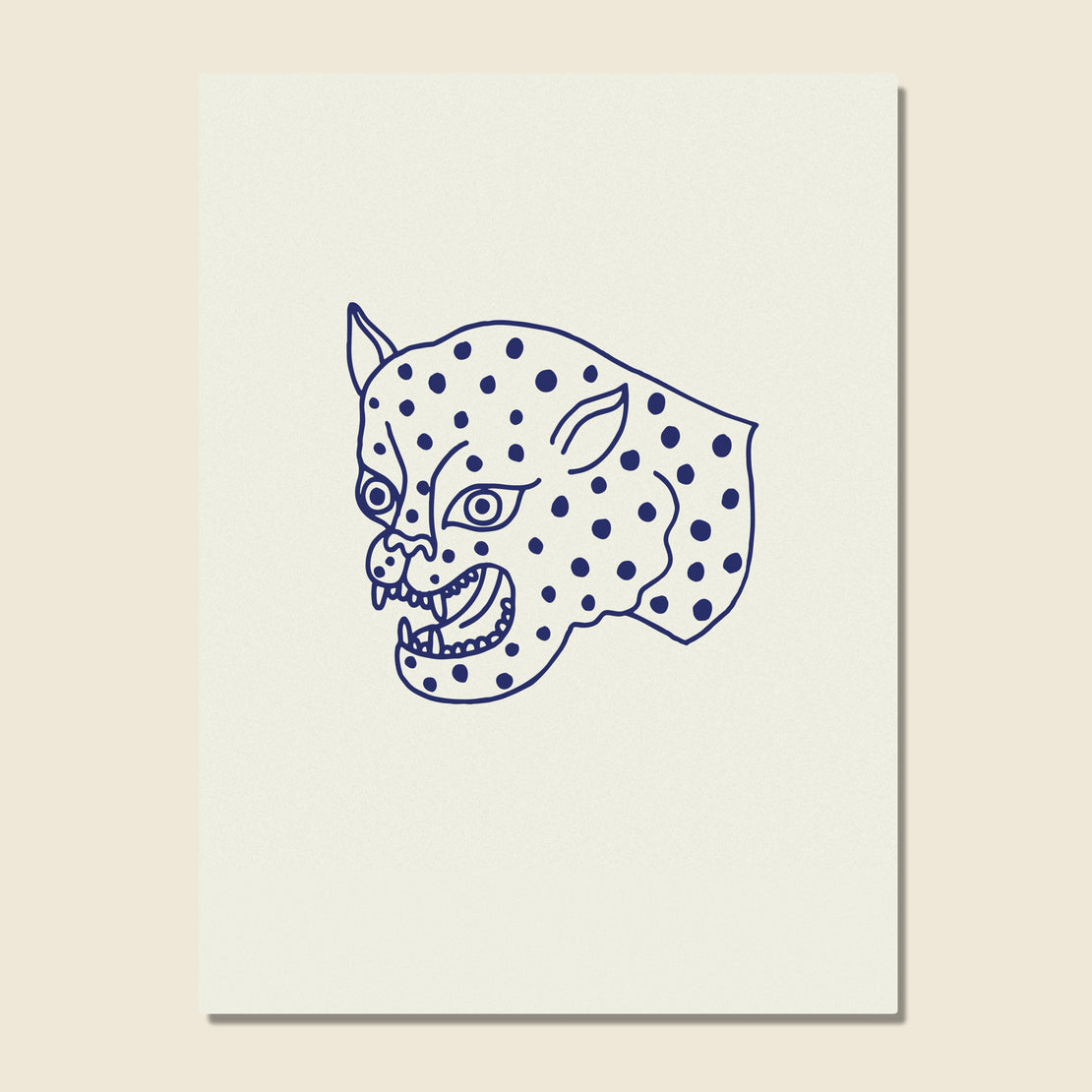 House of LAND Unframed Print - Leopard