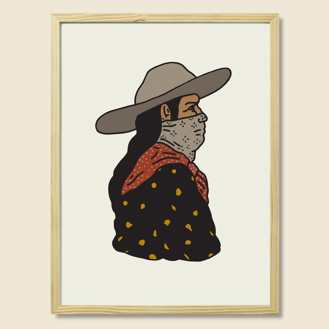 House of LAND Framed Print - Prairie Man