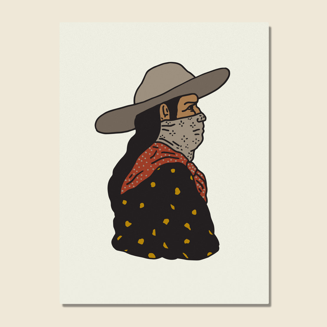 House of LAND Unframed Print - Prairie Man