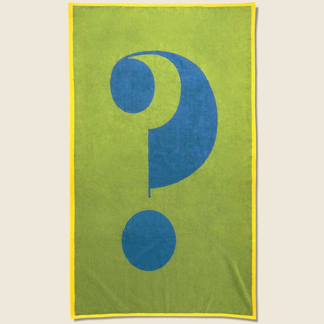 Lateral Objects Question Towel - Green/Blue