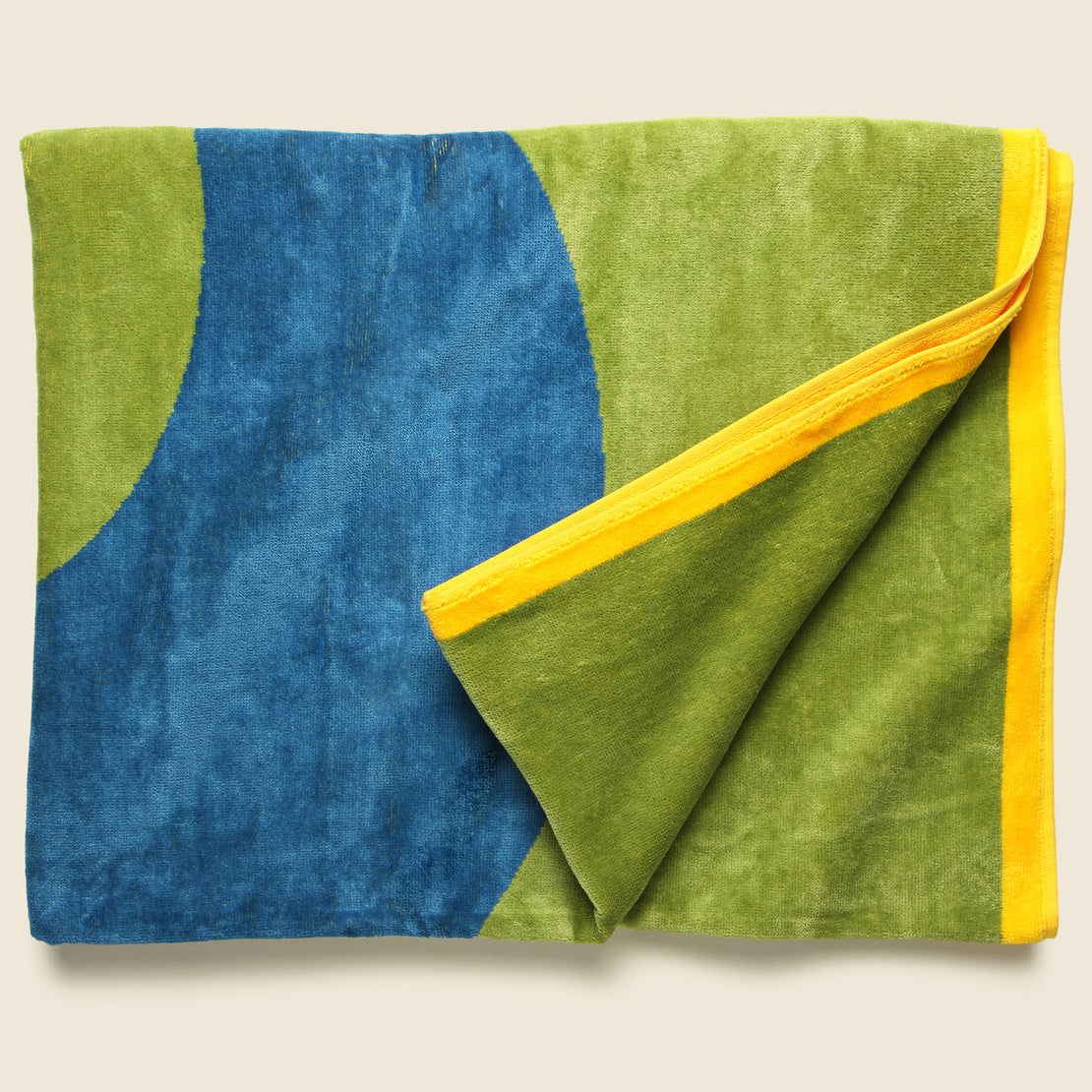 Question Towel - Green/Blue