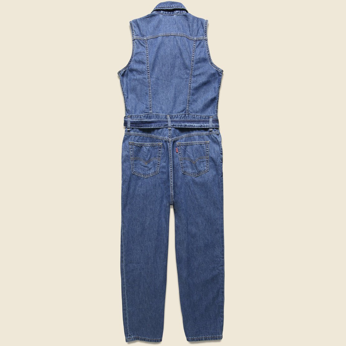 Cropped Taper Jumpsuit - Indigo
