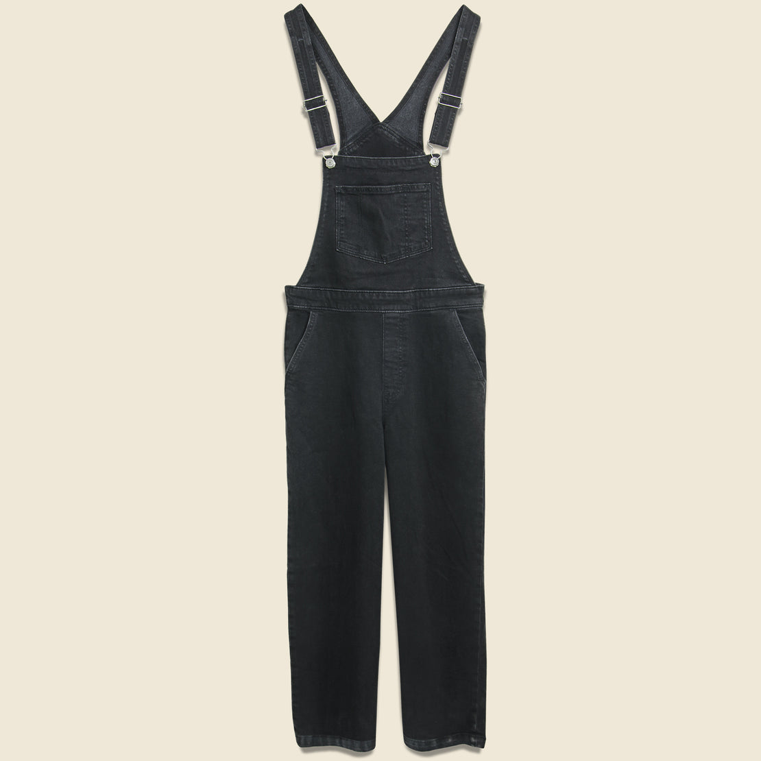 Levis Premium Ribcage Wide Leg Crop Overall - Black Book