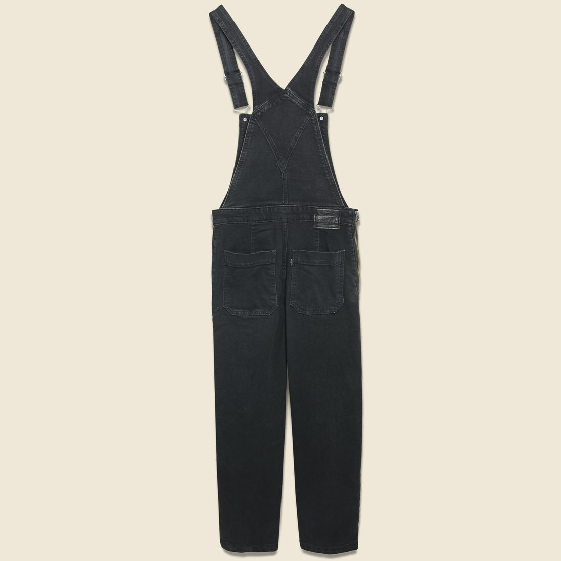 Ribcage Wide Leg Crop Overall - Black Book