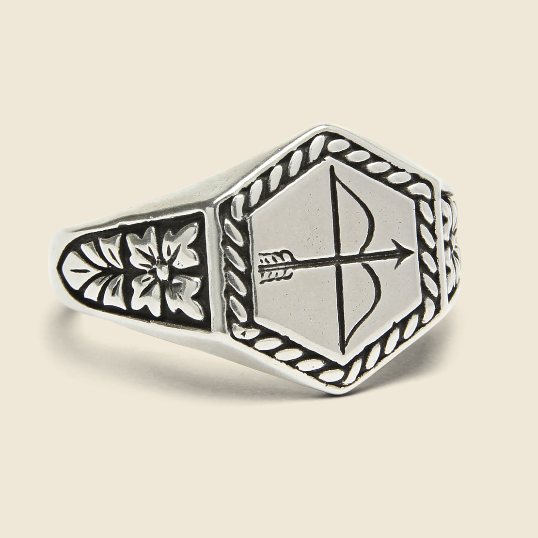 LHN Jewelry Bow & Arrow Ring - Silver