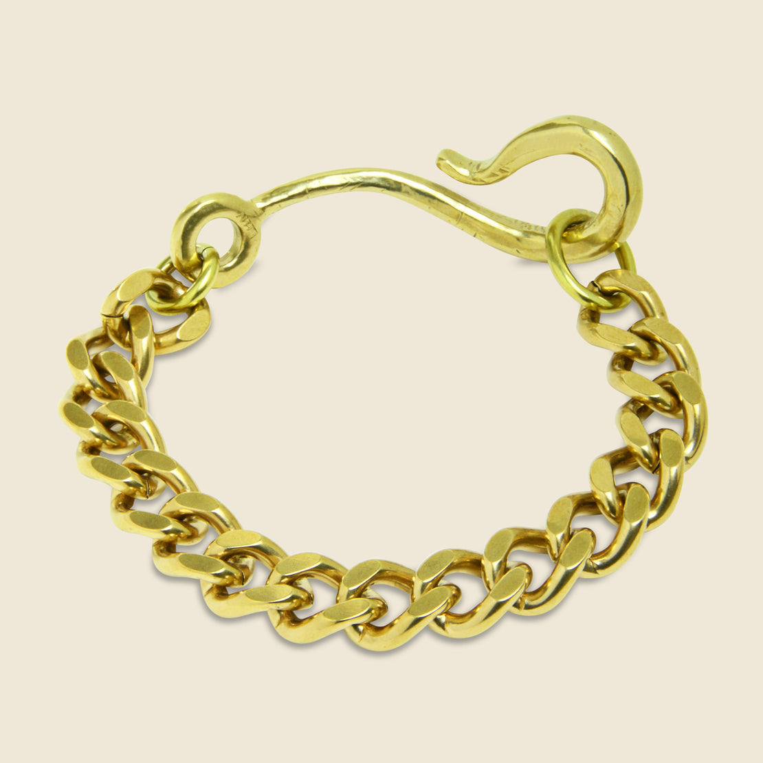 Large Hook Chain Bracelet - Brass