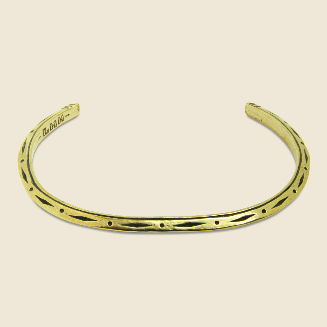 LHN Jewelry Tosca Diamond Stamp Cuff - Brass