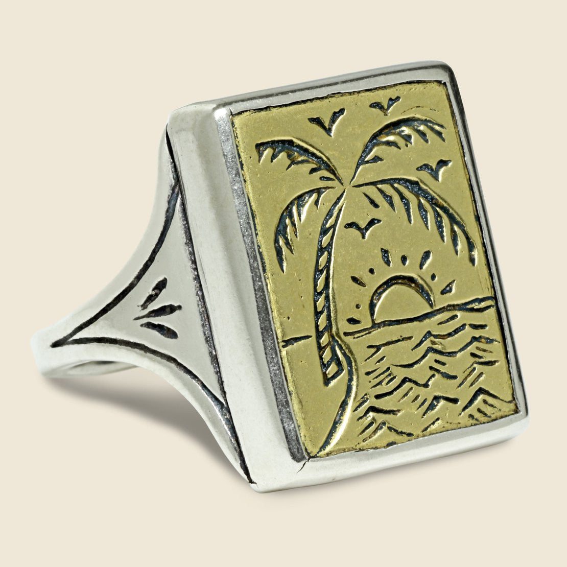 LHN Jewelry Paradise Ring - Brass/Silver