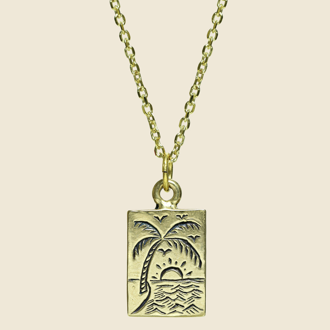 LHN Jewelry Paradise Necklace - Brass